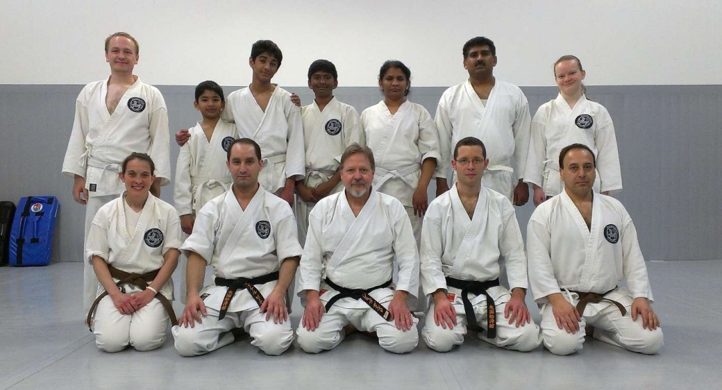 Members of Minneapolis and Twin Cities Shotokan Karate Dojos after April 27, 2013 rank testing.